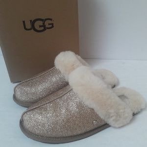 New Gold UGG Slippers Size 10